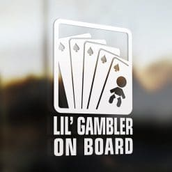 Lil' pocker gambler on board car sticker