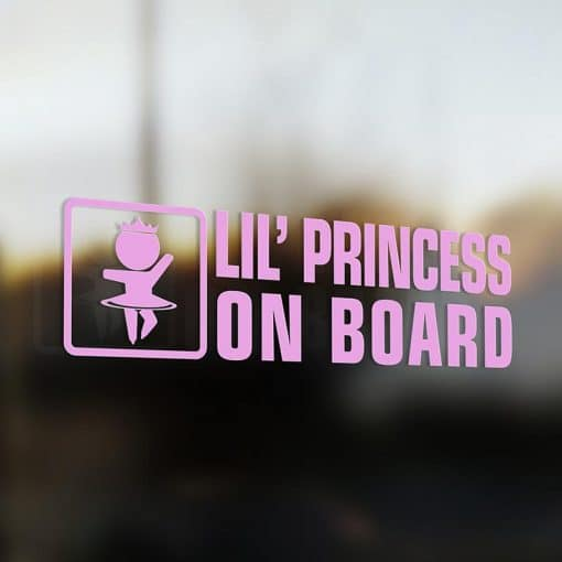 Lil' princess on board car sticker