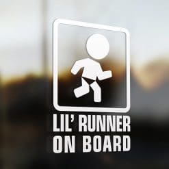 Lil' runner on board car sticker