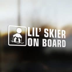 Lil' skier on board car sticker