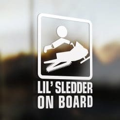 Lil' sledder on board car sticker