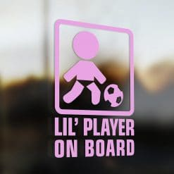 Lil' socceron board car sticker