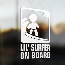 Lil' surferon board car sticker